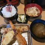 天ぷら さいとう 博多 - ランチ海鮮定食950円税込
