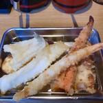 天ぷら さいとう 博多 - キス天,イカ天,エビ天が後から追加