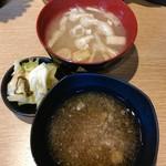 天ぷら さいとう 博多 - ご飯,味噌汁おかわり自由