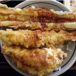 丸亀製麺 - 天麩羅丼完成