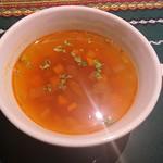 Restaurant OCEM - ランチのスープ。
