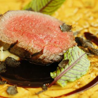 【極上のイタリアン】厳選した黒毛和牛と旬のお野菜