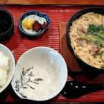 たこ柾 - 「牛鍋定食」900円