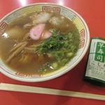 本家 アロチ 丸高 - 中華そば(600円)とはや寿司(100円)