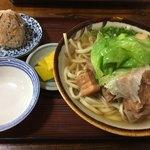 沖縄そば おおしろ - そば(中)¥600-  じゅーしー ¥80-