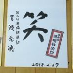 きよし - 「女酒場放浪記」万波奈穂サイン