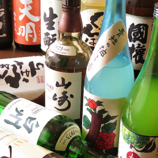 福島県産の飛露喜や寫樂の日本酒も揃え、飲み放題プランも有!