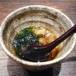 82072778 - 蕎麦の実、ナメコ、舞阪海苔の和え物