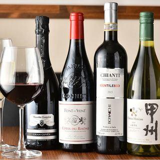 国内外のワインを豊富に取り揃えております!