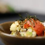 博多明太子と高菜のポテトサラダ