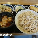 うどん 槇 - 肉汁うどん(小)+キンピラ+ちくわ天