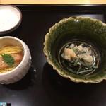 御りょうり屋 伊藤 - 料理写真:あさりのてっぱい 穴子蒸寿司