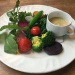 82088980 - 冷温野菜とバーニャカウダー