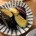立呑み晩杯屋 - 茄子生姜 130円