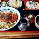めん処 しなの庵 - ソースカツ丼セットざる980円