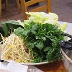 老北京 火鍋料理 蝎子王 - 鍋の野菜