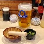 とん太 - 生ビール