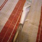 松榮亭 - ナイフとフォークも紙ナプキンでまーきまき