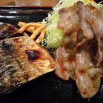 ちょっぷすてぃっく - 豚バラ生姜焼とさばの塩焼き