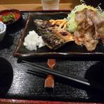 ちょっぷすてぃっく - 豚バラ生姜焼とさばの塩焼き②