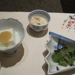 梅の花 - 生クリームと牛乳を葛で固めた嶺岡豆腐うま~い