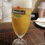 美麗酒場 couta - 先ずは乾杯のビール・・・・でもこの日は私は休肝日でウーロン茶です