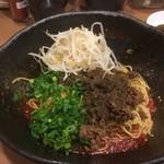階杉 - 汁なし坦々麺 (並)  35辛 もやしトッピング〜♪( ´▽`)