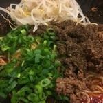 階杉 - 汁なし坦々麺 (並)  35辛 もやしトッピングのアップ〜♪( ´▽`)