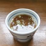 釜あげうどん 長田 in 香の香 - 残ったつけ出汁を饂飩の茹で汁で割っていただくと最高でした!