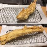 天ぷらまきの - 鶏天、大穴子天