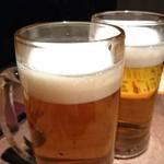 82104889 - ファーストドリンクです。まずはビールです。