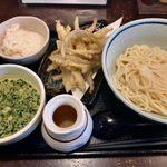 武膳 - 「黄金カレーつけ麺」+「ごぼう天」