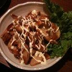 串道楽 潤 - ポテトフライがたこ焼き味になっています。