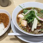 むぎとオリーブ - 「蛤SOBA」980円 と 「トマトキーマカレー」200円