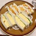 はまの屋パーラー - サンドゥイッチ(玉子&フルーツ)