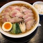 麺創なな家 - 料理写真:参州マタギそば 900円 麺大盛 +100円 肉マシ +400円