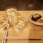 サケショップ フクミツヤ - 季節限定酒3種飲み比べ