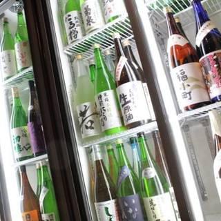 日本酒50種、果実酒20種付単品飲み放題!(福みみ柏店限定)
