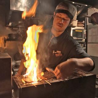 美味しいやきとりを、一本一本丁寧に焼いております!