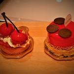 四季菓子の店 HIBIKA - 左:さくらんぼ 右:てんとうむし
