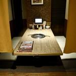 焼肉じゃんじゃん亭 - 半個室の座敷テーブル