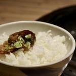 焼肉じゃんじゃん亭 - マヨねぎ焼肉と白飯