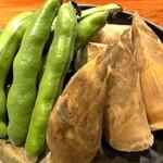 炭火焼火乃酉YOKOHAMA - そら豆と筍