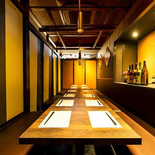 大人のご宴会に♪暖かな和の照明が包み込む落ち着いた個室席!