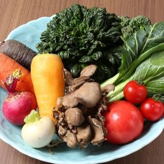 小田原近郊の野菜を中心としたベジフルな創作料理