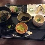 舟庵 - 鯛茶漬けと野菜の天ぷら