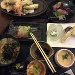 舟庵 - 天ぷらと刺身