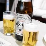 バンゲラズ キッチン - アサヒ瓶ビール¥850