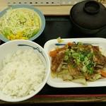 松屋 - ふわとろ豚と温野菜定食