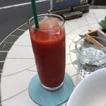 ヨガカフェ - セットの野菜ジュース 100円